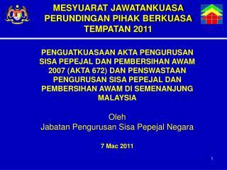 MESYUARAT JAWATANKUASA PERUNDINGAN PIHAK BERKUASA TEMPATAN 2011