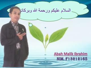 Abah Malik  Ibrahim NIM. F 13212165