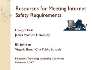 Resources for Meeting Internet Safety Requirements