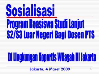 Jakarta, 4 Maret 2009