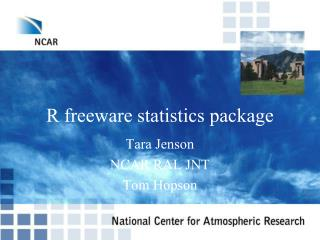 R freeware statistics package
