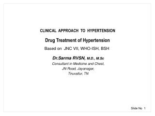 CLINICAL  APPROACH  TO  HYPERTENSION