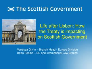 Life after Lisbon: How the Treaty is impacting on Scottish Government
