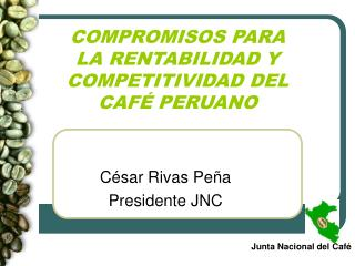 COMPROMISOS PARA LA RENTABILIDAD Y COMPETITIVIDAD DEL  CAFÉ PERUANO