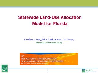 Statewide Land-Use Allocation Model for Florida