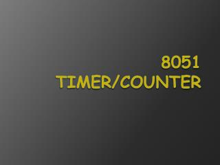 8051 timer/counter