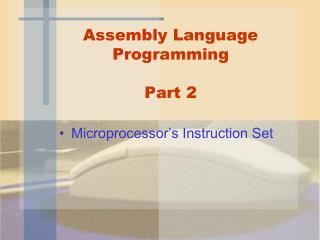 Assembly Language Programming Part 2