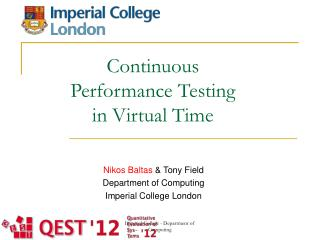 Continuous Performance Testing  in Virtual Time