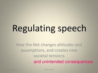 Regulating speech