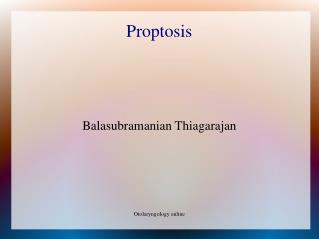 Proptosis