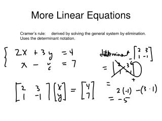 More Linear Equations