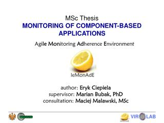 MSc Thesis MONITORING OF COMPONENT-BASED APPLICATIONS
