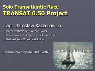 Sponsorship proposal 2006-2007