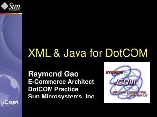 XML & Java for DotCOM