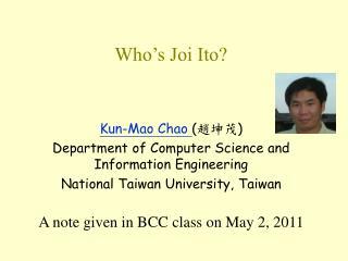 Who's Joi Ito?
