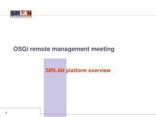 OSGi remote management meeting
