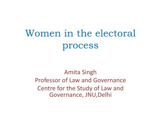 Women in the electoral process