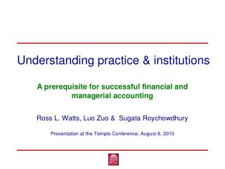 Understanding practice & institutions
