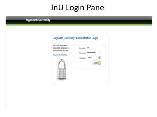 JnU  Login Panel