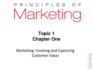 Topic 1 Chapter One