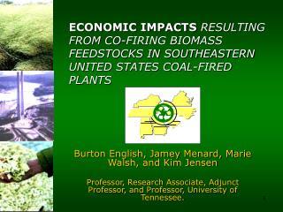 Burton English, Jamey Menard, Marie Walsh, and Kim Jensen  Professor, Research Associate, Adjunct Professor, and Profess