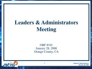 Leaders & Administrators Meeting