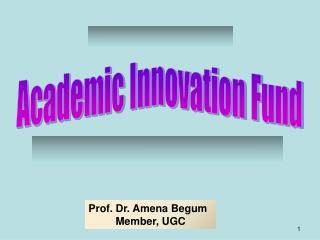 Academic Innovation Fund