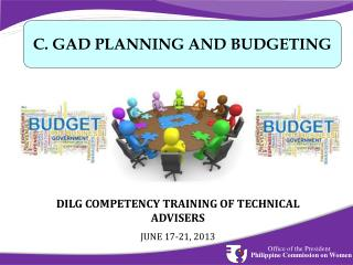 DILG COMPETENCY TRAINING OF TECHNICAL ADVISERS  JUNE 17-21, 2013