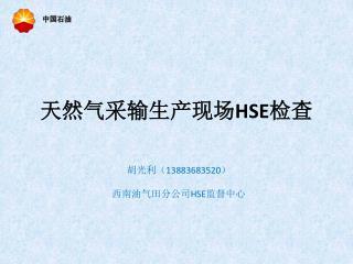 天然气采输生产现场 HSE 检查