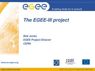 The EGEE-III project