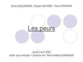Jeudi 6 Avril 2006 Veiller pour anticiper – Sciences Po - Marie-Hélène GIANNESINI