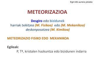 METEORIZAZIOA