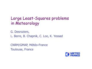 Large Least-Squares problems in Meteorology