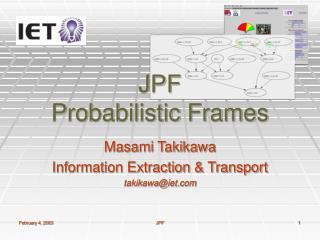 JPF Probabilistic Frames