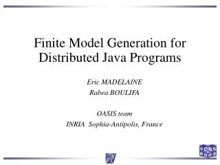 Finite Model Generation for Distributed Java Programs