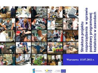 Struktura projektu rozporządzenia  w sprawie podstawy programowej kształcenia w zawodach