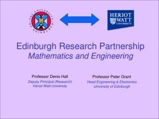 Edinburgh Research Partnership Mathematics and Engineering