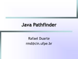 Java Pathfinder