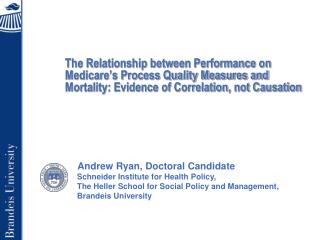 Andrew Ryan, Doctoral Candidate