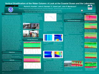 Vertical Stratification of the Water Column: A Look at the Coastal Ocean and the Laboratory