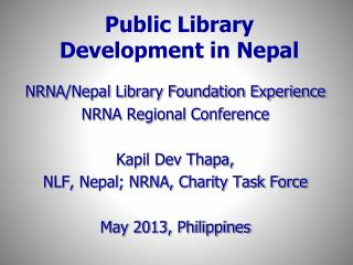 Public Library Development in Nepal