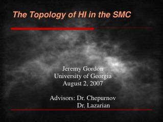 The Topology of HI in the SMC