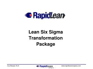 Lean Six Sigma Transformation Package