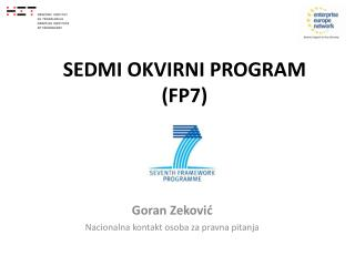 SEDMI OKVIRNI PROGRAM  (FP7)