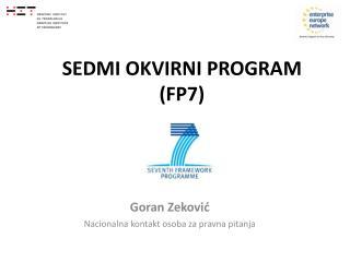 SEDMI OKVIRNI PROGRAM  (FP7)