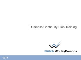 Business Continuity Plan Training