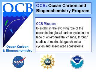 OCB:  Ocean Carbon and Biogeochemistry Program