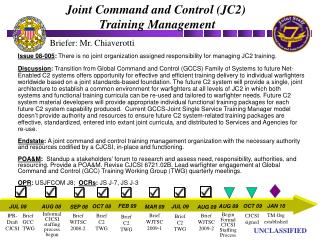 Joint Command and Control (JC2)  Training Management