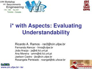 i* with Aspects: Evaluating Understandability