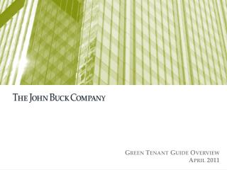Green Tenant Guide Overview April 2011
